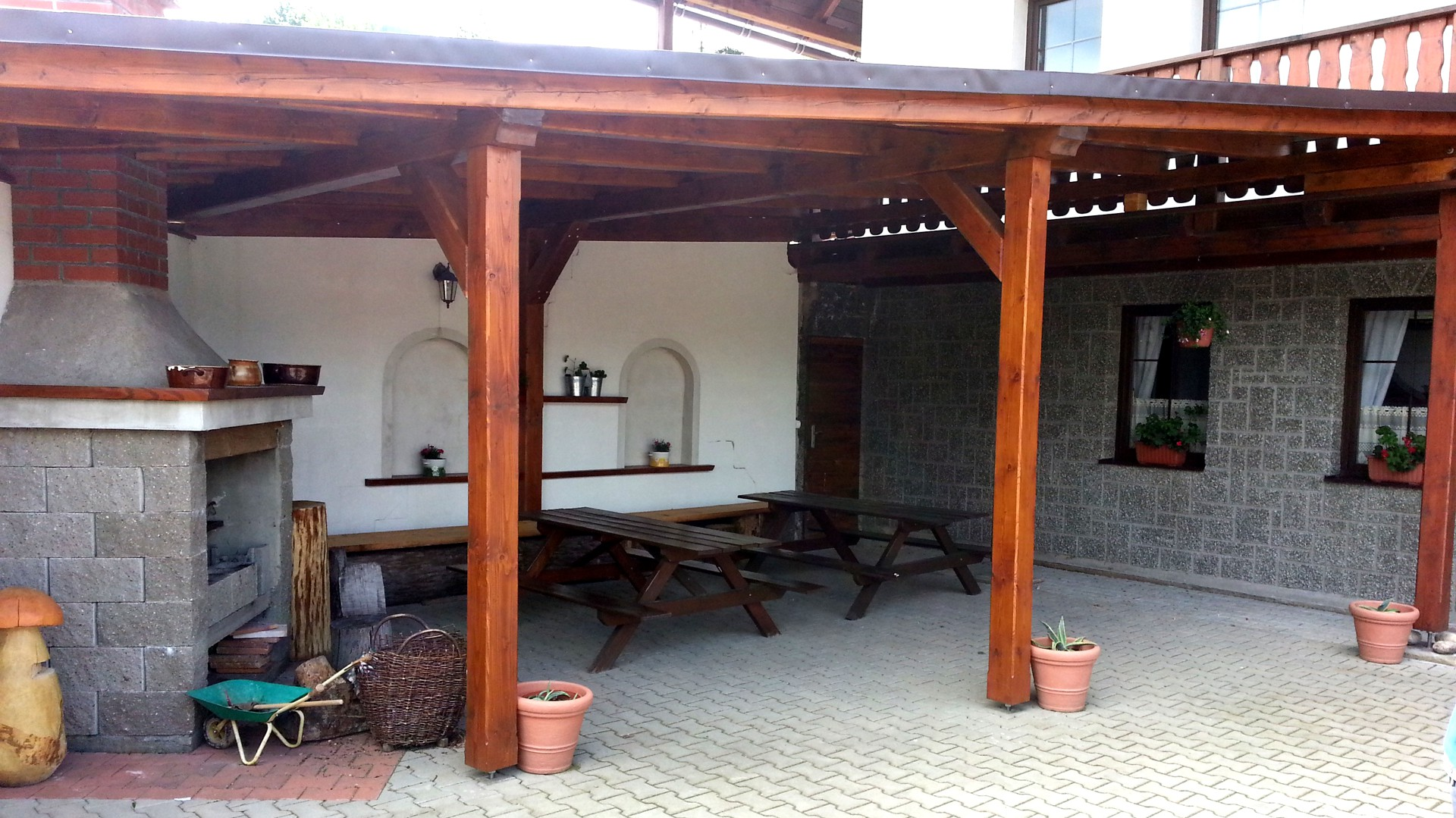 Terrace with barbecue - Pension Seidl